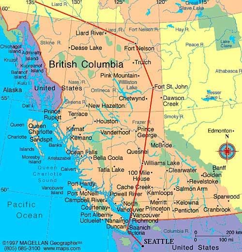 Где находится британская колумбия