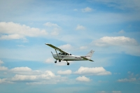 Cessna в полете